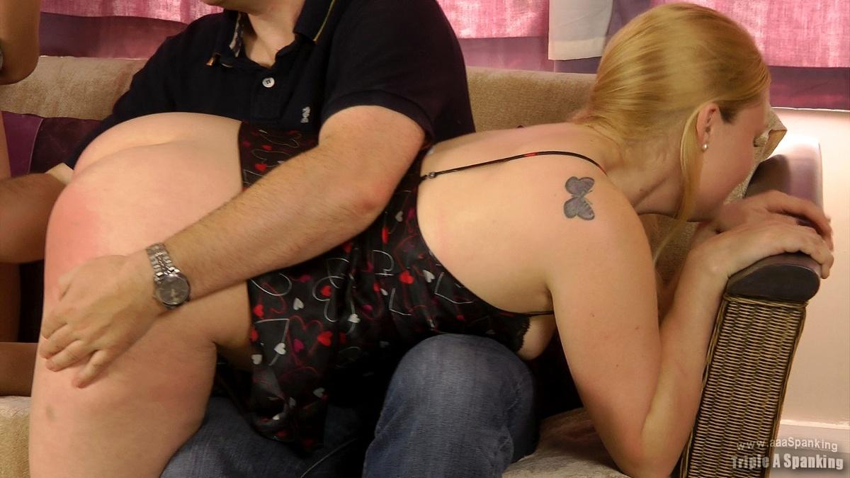 cute blond spanking