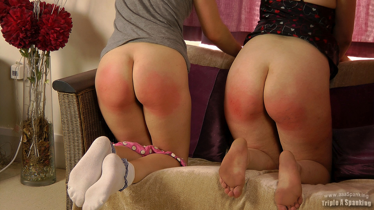 two girls after spanking