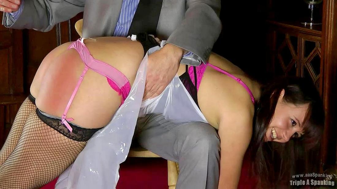 cute face spanking