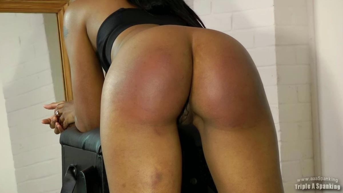 spank black ebony ass buns