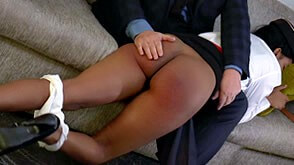 OTK spanking of flight attendant