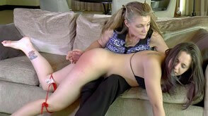 Mommy spanking her daughter Adriana