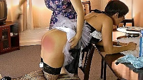 A hard slippering for Sarah's maid