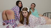 Bedtime brats get a spanking