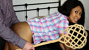 danielle is caned hard