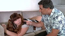 Upskirt Aunt in pantyhose spanking