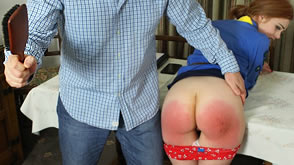 Girl Guide spanking & strapping