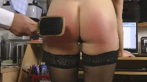 Jasmine given a hairbrush punishment