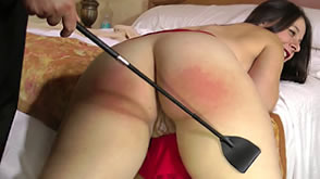 Sarah receives an intimate spanking from John