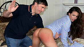 Casey gets a hard bare bottom spanking