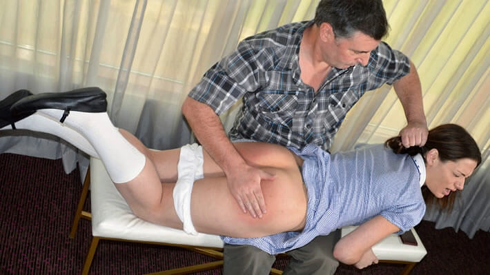 Ten spanked and strapped by stepdad