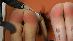 The girls get a severe thrashing