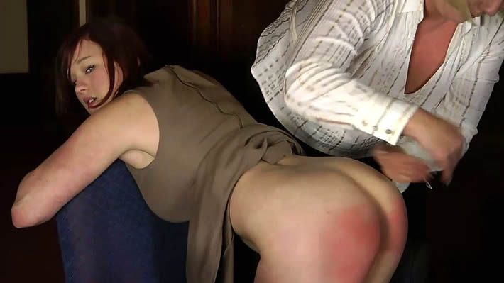 Beautiful 18 year old Taylor spanked on film for the 1st time